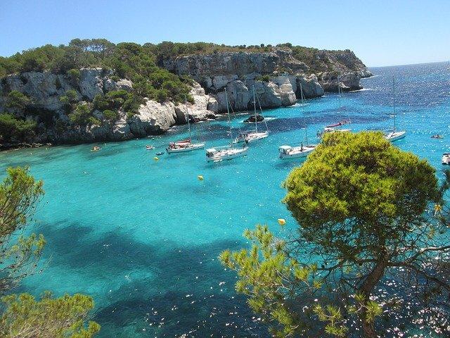Menorca clear waters