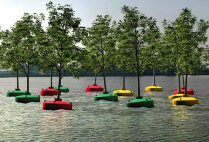 foresta galleggiante