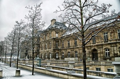 Parigi con la neve