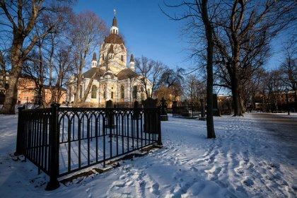 Stoccolma con la neve